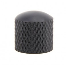 Black Knurled Guitar Knob Single 230x230