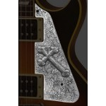 QPARTS Dirty Metal Holy Cross LP Pickguard